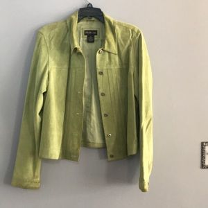 Lime green suede jacket🦋